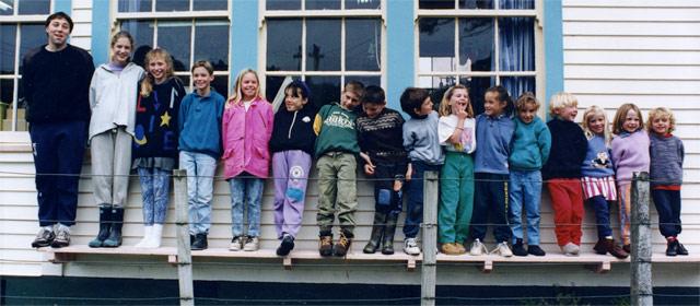 estudiantes por tamaños y felices en una escuela en Nueva Zelanza José Manuel Bautista