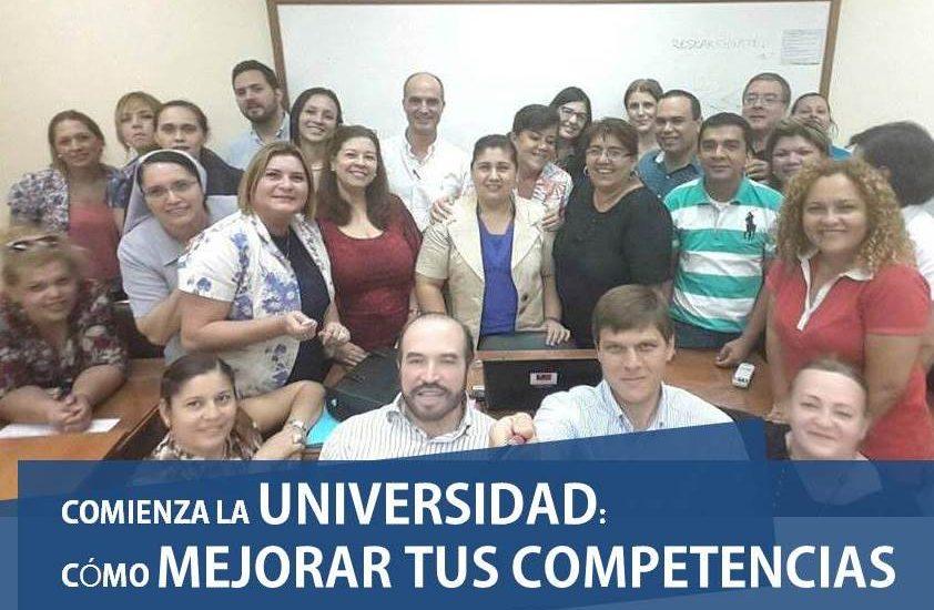 Comienza la Universidad grupo alumnos Universidad Nacional de Asunción José Manuel Bautista