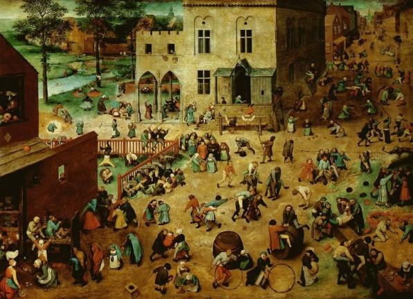 Juegos de niños (1560) de Pieter Brueghel juegos universales