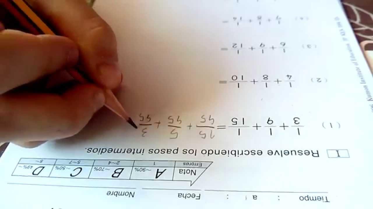 Kumon matemáticas